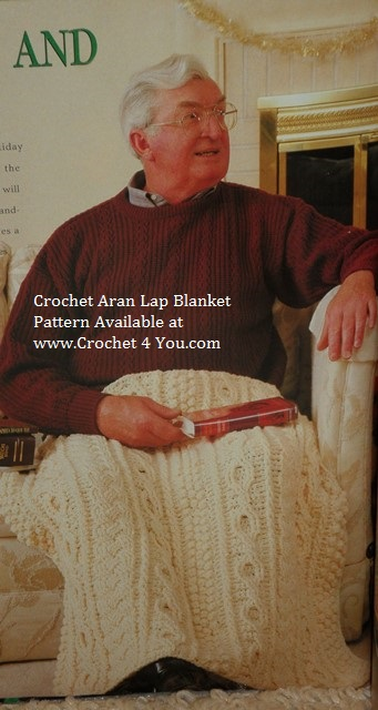 aran crochet blanket
