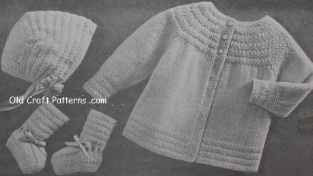 moss stitch baby set