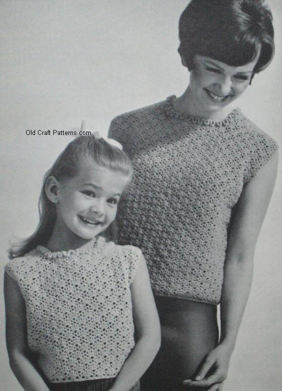 mother daughter  crochet