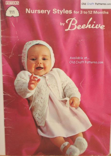 crochet & knitting baby clothes,layettes,patons nursery ...