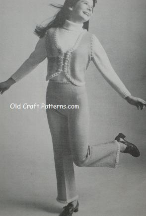 knitted pant suit