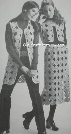 crocheted motifs