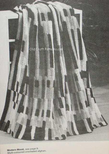 modern crochet afghan