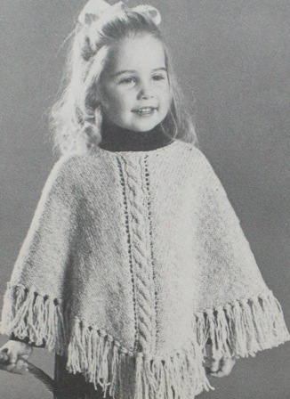 Free Knitting Pattern For Girls Poncho Very Simple Free Knitting