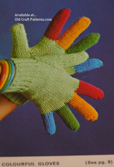 colored gloves patterns