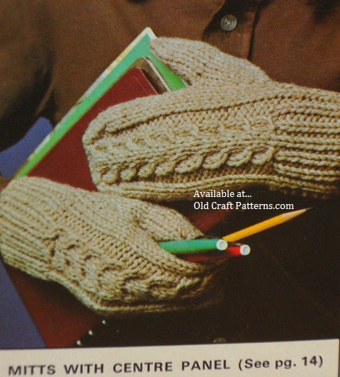 aran mitten patterns