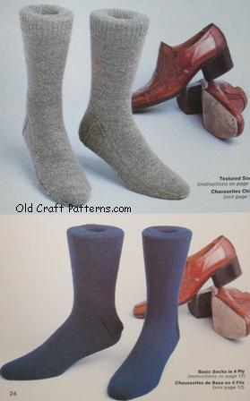 patons sock knitting patterns book no 121 –  www.oldcraftpatterns.com