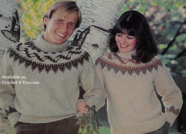 patons 435 fair isle knits knitting sweater patterns at www ...