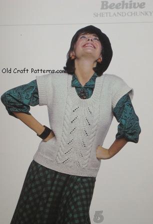 aran ladies vest