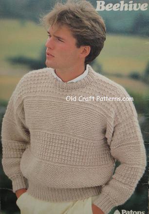 mans chunky knitting