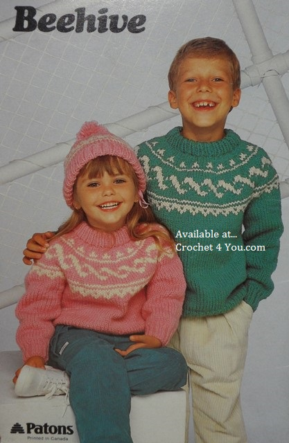 Patons Knitting Patterns Children : patons 480 fun and games childrens chunky patterns at Crochet4you.com