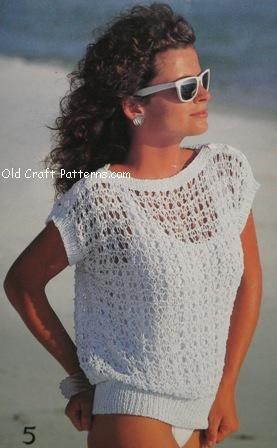 Knitted Summer Tops Patterns : patons 484 knitting patterns for cotton summer sweater tops - www.Crochet4you...