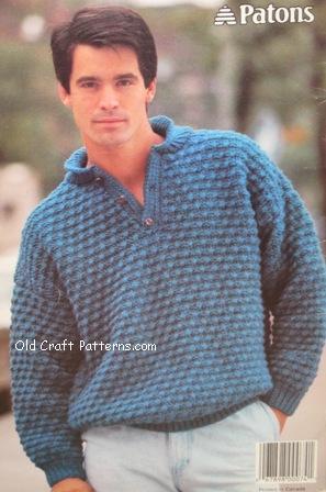 patons 491 knitting chunky new knit men & womens sweater patterns at Croc...