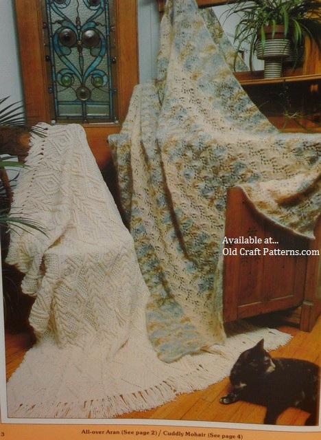 aran knitted afghan