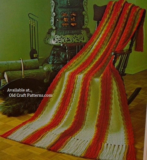 afghans to knit and crochet patterns Patons 504 pattern book at www.crochet4y...