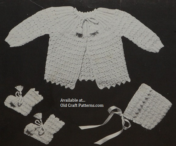 crochet sweater set