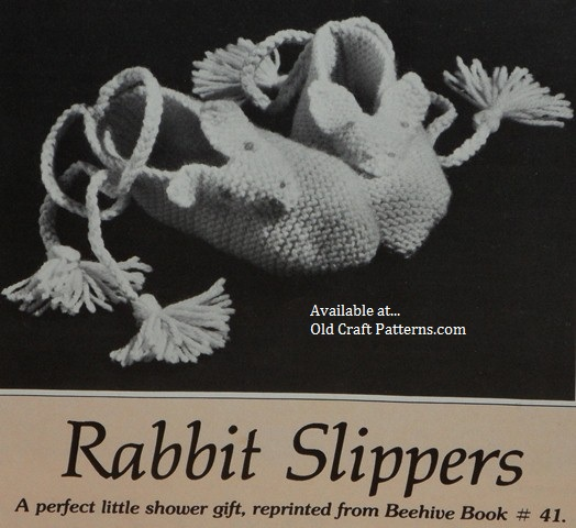 rabbit slippers pattern