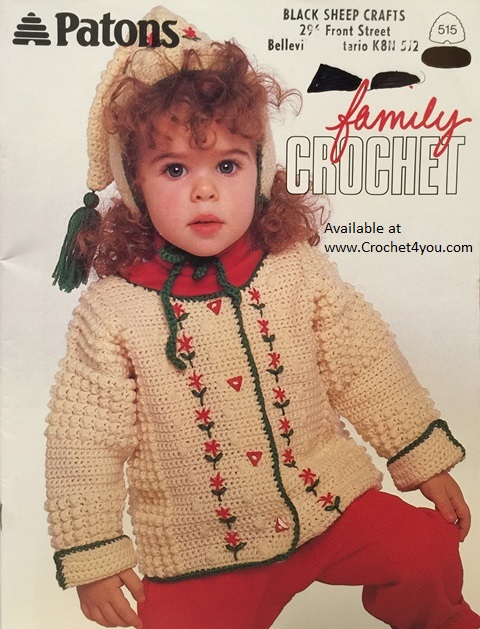 childs crochet sweater