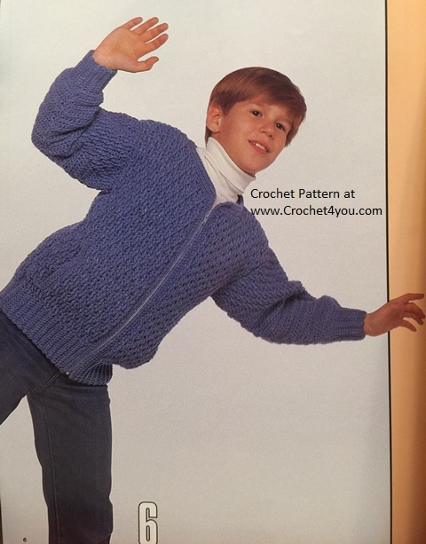 childs crochet cardigan