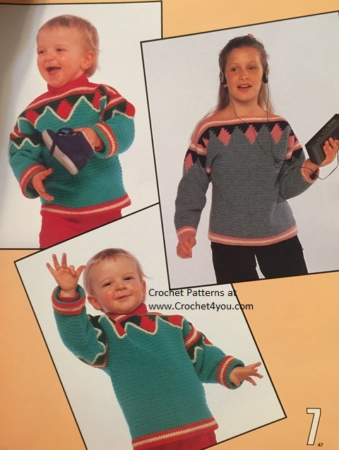 childs crochet sweater patterns