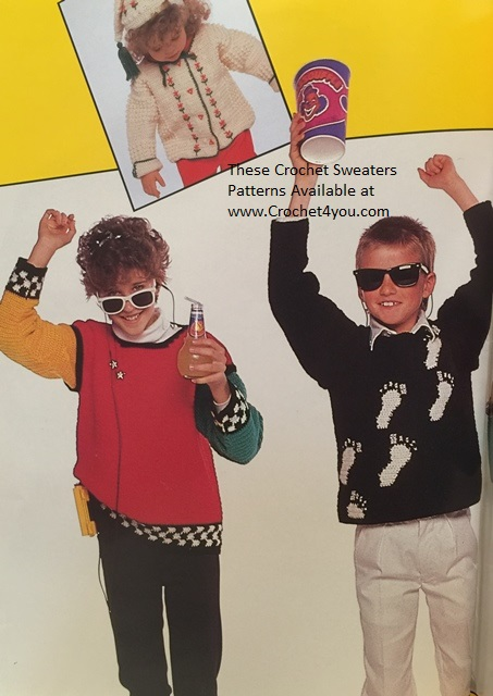 kids crochet sweaters  patterns