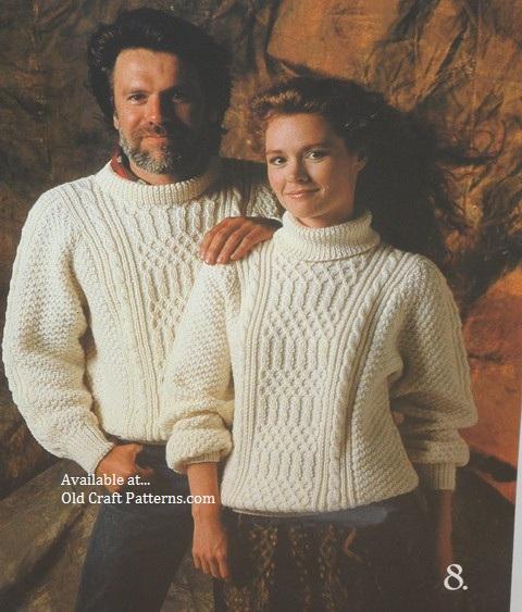 aran knit pullovers