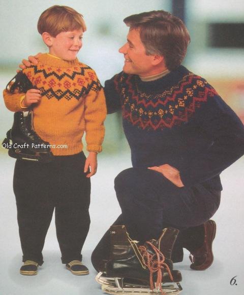 skaters knitting