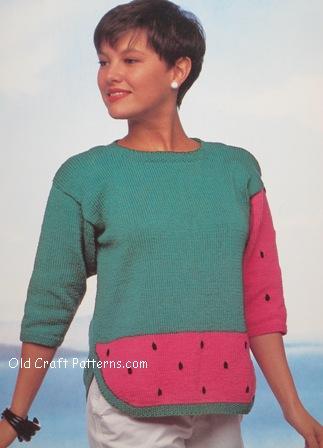 watermelon pullover
