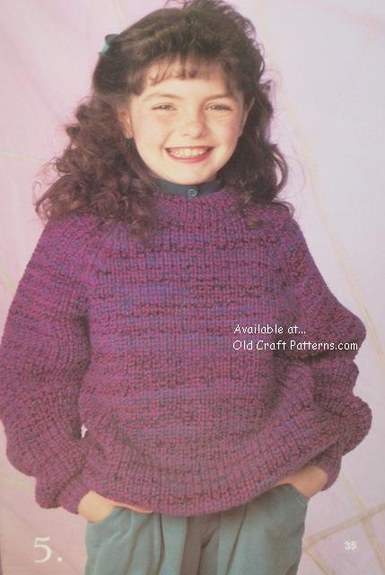 kids pullover pattern