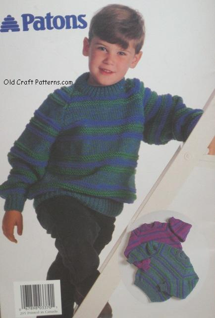 childs knitting pattern