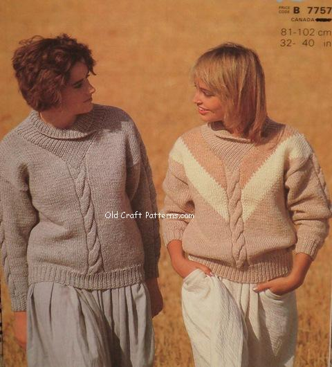 ladies knit sweaters