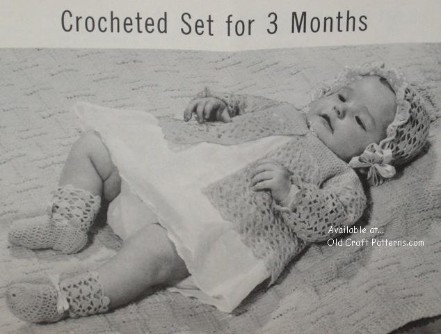 knitted baby pram set