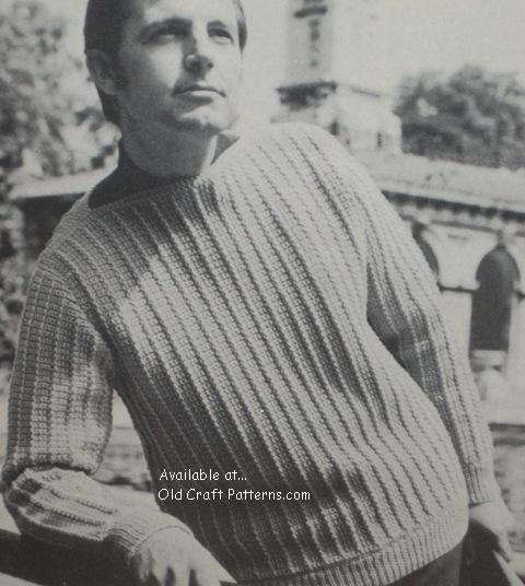 mans crochet sweater