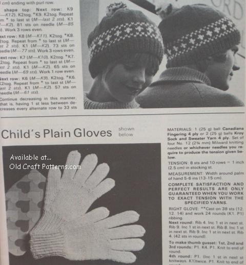 hats and gloves patterns