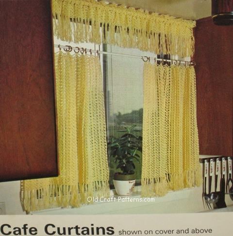 kitchen crochet curtains