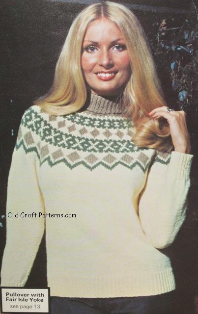 fairisle knit sweater