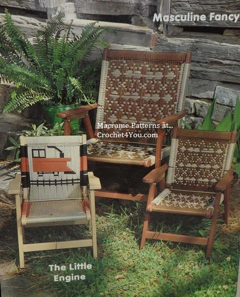 macrame chair patterns