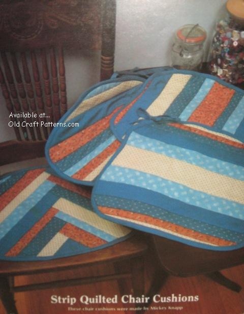 strip quilted cushions