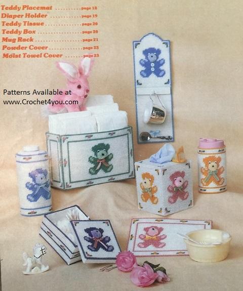 teddy plastic canvas patterns