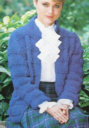 bobble knitting cardigan