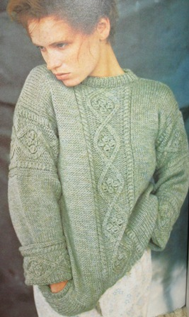 aran style knitted sweater