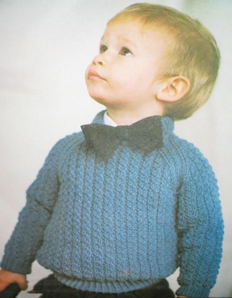 childrens cable sweater