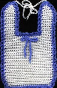 free crochet baby bib
