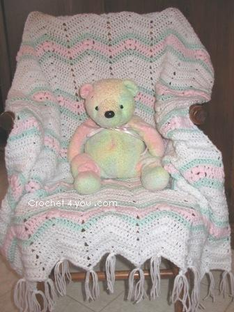 Baby Afghan Crochet : Free Crochet Patterns: Free Crochet Baby Afghan Patterns