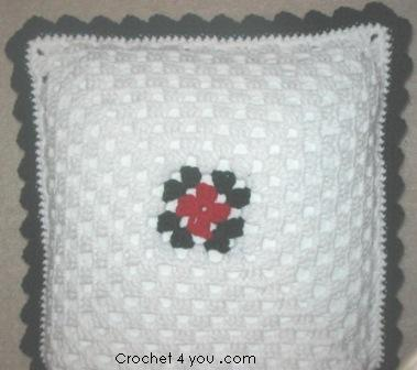 free crochet cushion