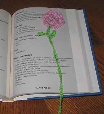 free Crochet book mark pattern