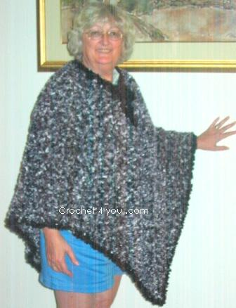 Free Crochet Pattern Ladies Poncho : free crochet poncho pattern of the week - www.crochet4you.com