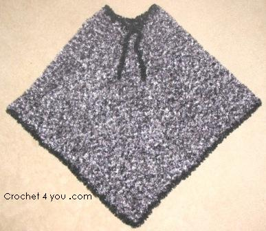 free crochet poncho pattern at www.crochet4you.com