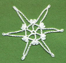 free crochet thread snowflake pattern